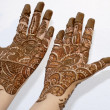 Henna Tattoo on Hands — Stock Photo