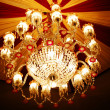 Home interiors Chandelier on ceiling — Stock Photo #1332008