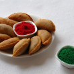 gujia doces e cor no festival de holi — Foto Stock