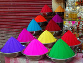 Color powder for Holi Festival — Stock Photo