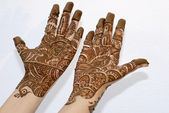 Henna Tattoo on Hands — Foto Stock