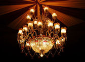 Home interiors Chandelier on ceiling — Foto Stock