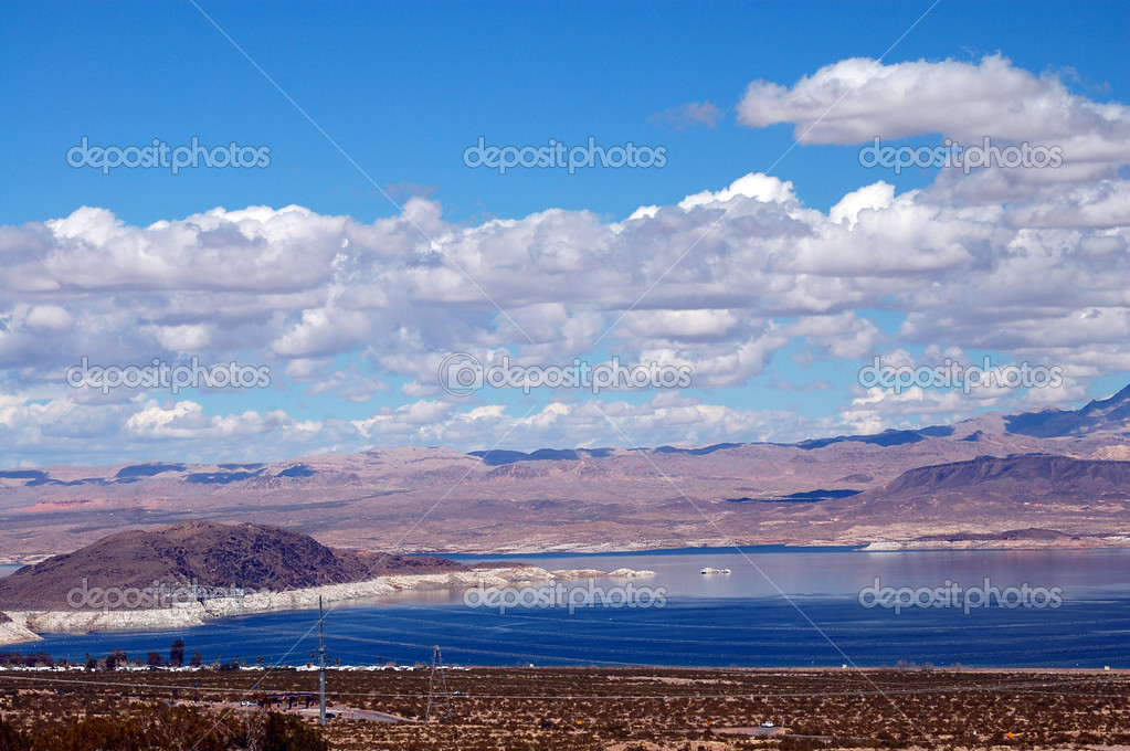 Manmade lake mead for hoover dam in las vegas nevada  Stock Photo #1331645