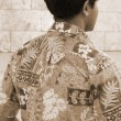 Hawaii Aloha Shirt sepia — Stock Photo