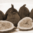 Fig fruit sepia — Stock Photo
