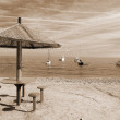 Chillout at beach sepia — Stock Photo #1392447