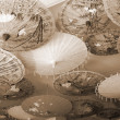 Chinese Decor Umbrellas sepia — Stock Photo #1392474