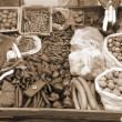 Selling Fresh Vegetables sepia — Stock Photo #1444928
