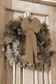 Christmas Decoration sepia — Stock Photo