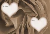 Happy valentines day van sepia — Stockfoto