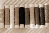Thread String Spool sepia — Stock Photo