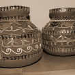 Stock Photo: Decorative Earthen Pots sepia