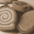 Sugar coated candy sepia — Stock Photo