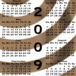 Happy New Year 2009 Calendar sepia — Stock Photo #1512540