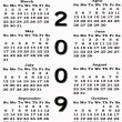 Happy New Year 2009 Calendar sepia — Stockfoto