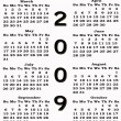 Stock Photo: Happy New Year 2009 Calendar sepia