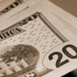 Dollar Currency of America sepia — Stock Photo