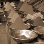 pó de cor de sépia festival holi — Foto Stock