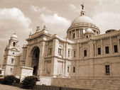 Victoria Memorial Building sepia — Stock Photo