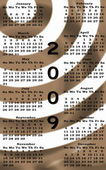 Happy New Year 2009 Calendar sepia — Stock Photo