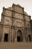 Saint Francis Church in Goa India sepia — Stock Photo