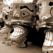 Ravanhead effigies sepia — Stock Photo #1637066