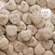 Stock Photo: Valentine Love Heart Candy sepia