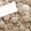 Valentine Love Heart Candy sepia — Stock Photo