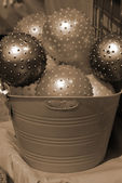 Toy Colored Balls Assorted in Bucket — Stock fotografie