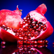 Colorful pomegranates - Stock Photo