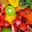 Stock Photo: Lot of fruits