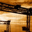 Construction cranes - Foto Stock