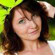 Стоковое фото: Autumn portrait of young pretty woman