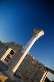Column in old ruined greece town — Stock Photo