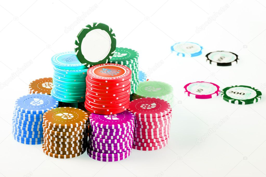 Isolated casino / poker chips  — Stock Photo #1312349