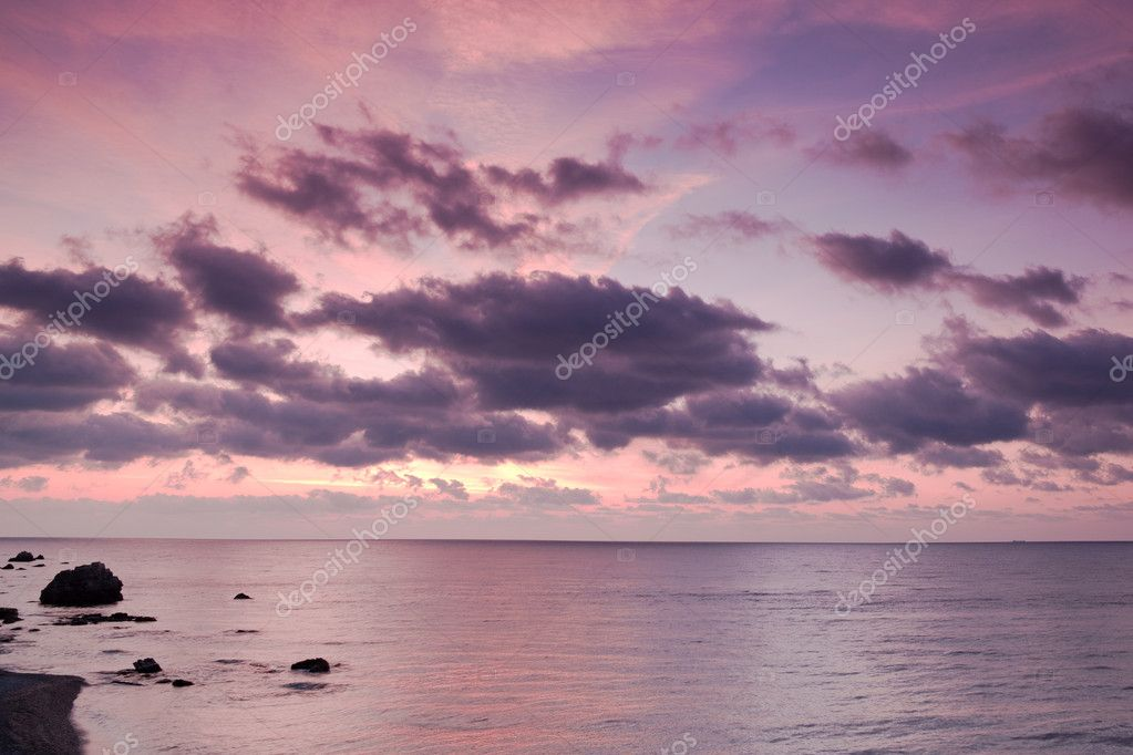 Sea sunrise with beautiful clouds  — Stock Photo #1313162