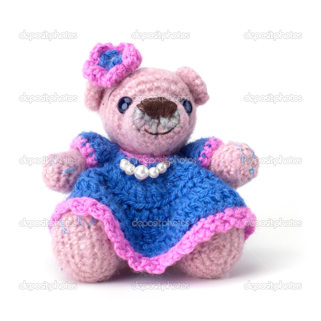 Cute little teddy bear on white — Stock Photo #1692302
