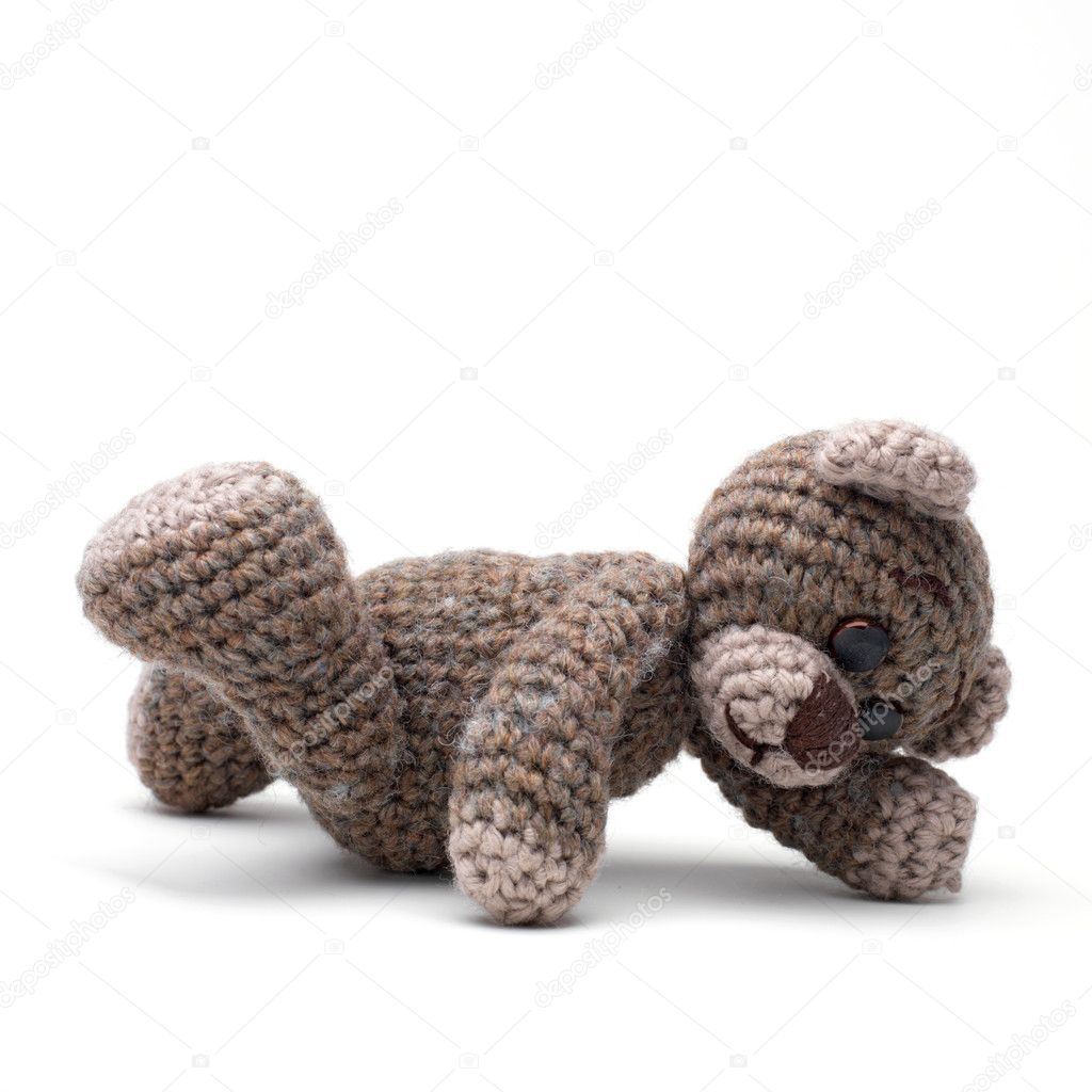 Cute little teddy bear on white — Stock Photo #1692303