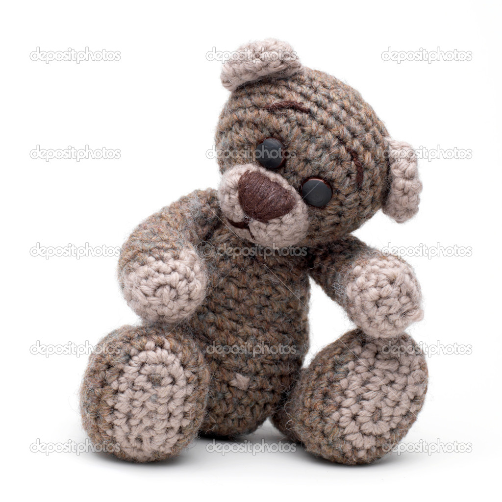 Cute little teddy bear on white — Stock Photo #1692306