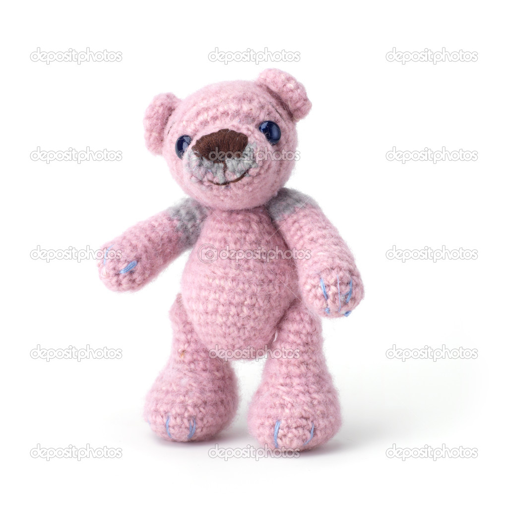 Cute little teddy bear on white — Stock Photo #1692314