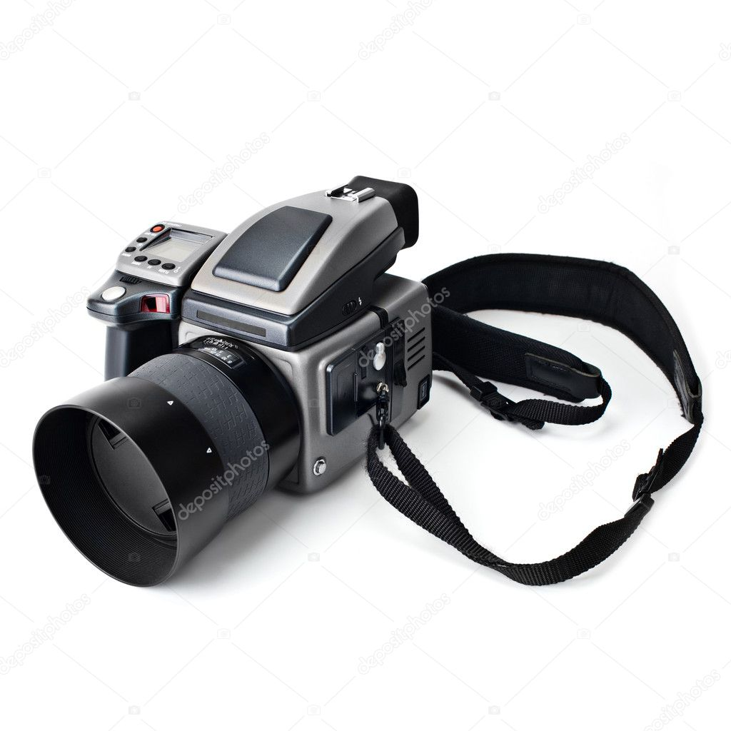Medium format digital camera on white background — Stock Photo #1845872