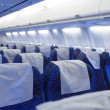 Boeing airplaine interior empty — Stock Photo