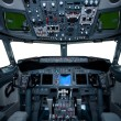 Boeing interior, cockpit view — Stockfoto #2078960