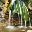 Beautiful waterfall in mountain wood - Stock Photo