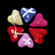 Royalty-Free Stock Photo: Hearts of Knitting - Valentine