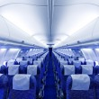 Stock Photo: Boeing airplaine interior empty