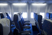 Boeing airplaine interior — Stock Photo