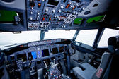 Boeing interiör, cockpit-vyn — Stockfoto