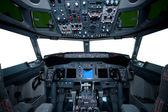 Boeing innenansicht, cockpit — Stockfoto