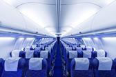 Boeing airplaine interiör tom — Stockfoto
